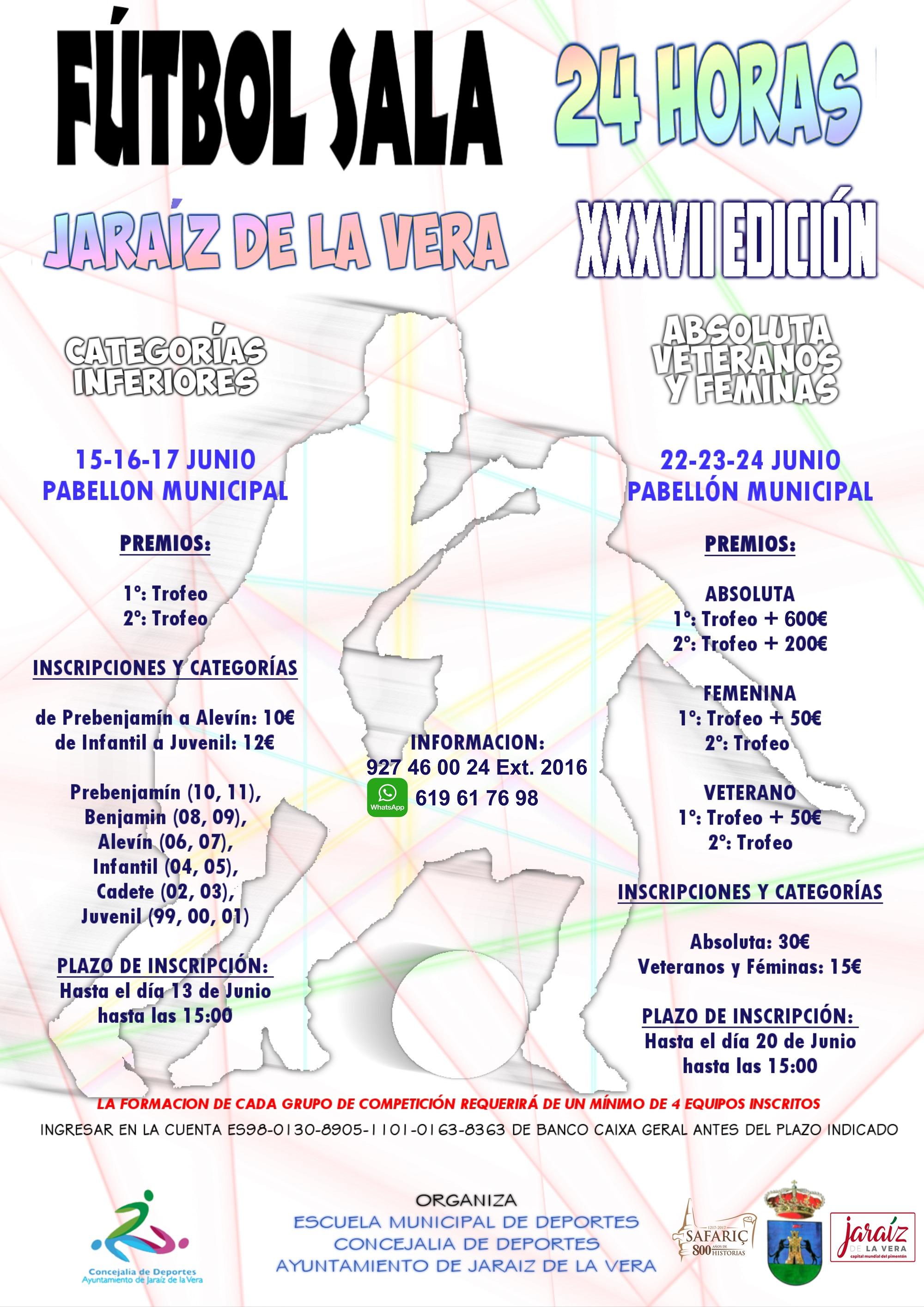 XXXVII Edición de las 24 Horas de Fútbol Sala de Jaraíz de la Vera 2018